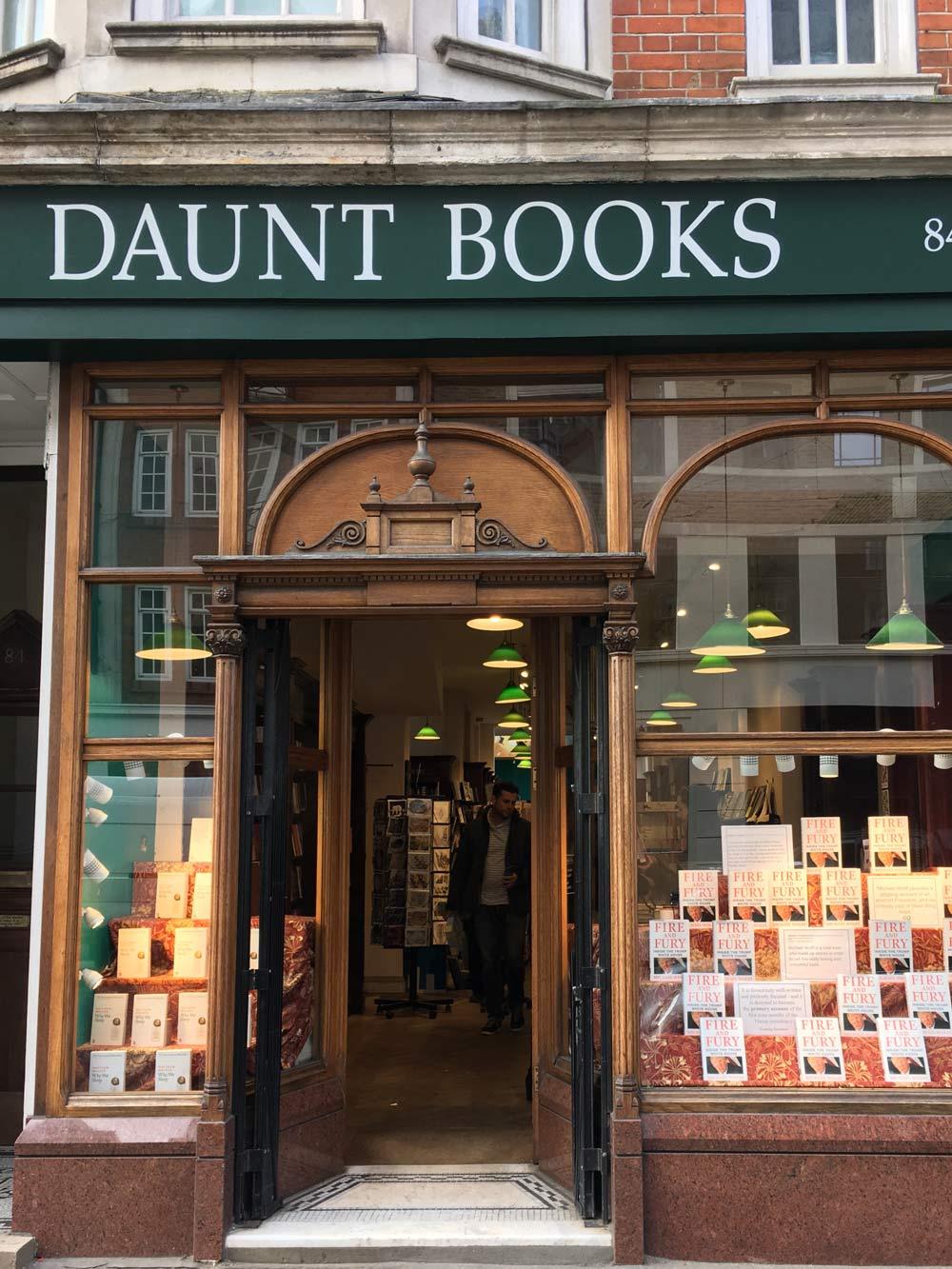 Daunt book store London