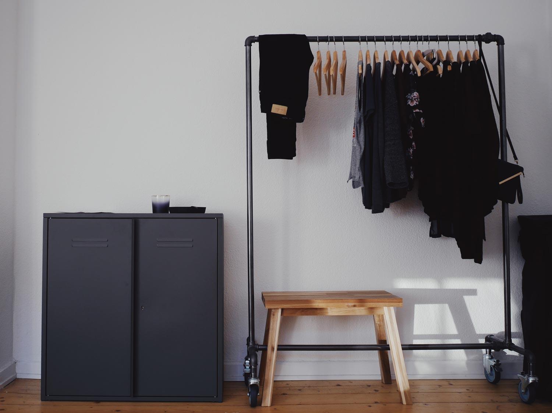 minimalistische 1-Zimmer-Wohnung